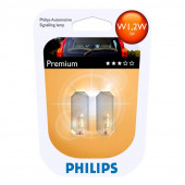 Philips W1,2W Vision 12V 1,2W Glas 2stk