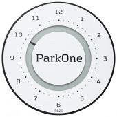 ParkOne 2 elektr. P-skive Hvid