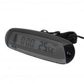 Termometer Ud/Indv.+Alarm & Ur