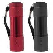 LED Lygte sæt rød+sort 9 led AAA