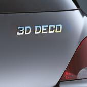 3D-DECO krom bogstav 'firkløver'