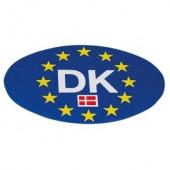 Klistermærke DK blåt EU oval 86x123mm