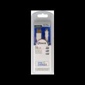 Sinox USB til Micro USB2.0 kabel hvid 0,75m