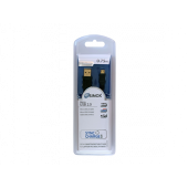 Sinox USB til Micro USB2.0 kabel sort 0,75m