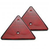 Refleks trekant rød 2stk