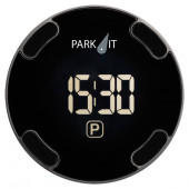 Park-IT Elektronisk P-Skive Sort