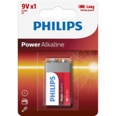 Philips 6LR6 9V 1stk PowerAlkaline batteri