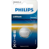 Philips CR2025 Lithium batteri 3V 1stk