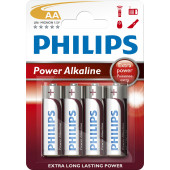 Philips LR06/AA 4stk PowerAlkaline batterier 1,5V