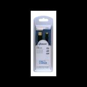 Sinox USB til Micro USB2.0 kabel sort 2m