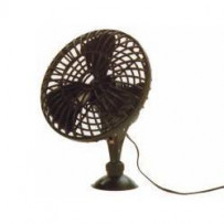 Ventilator m/sugekop 12V 13cm.