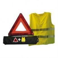 Advarselstrekant compact refleksvest nylon taske m