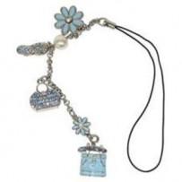 Spejl hæng 'jewellery blue'