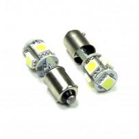 LED BA9S 6000K 5xSMD 2stk Canbus 12V Pærer