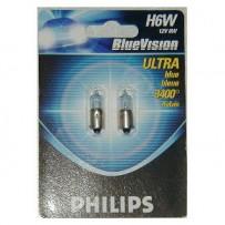 Philips H6W BlueVision 12V 6W 2-pak