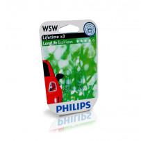 Philips W5W Longlife Ecovision 2stk 12V 5W