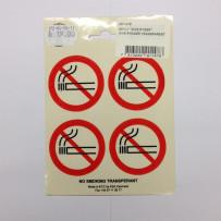 IKKE Ryger klistermærker 4stk Transparant