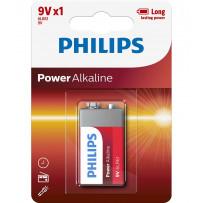 Philips 6LR6 9V 1stk PowerAlkaline batteri