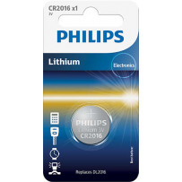 Philips CR2016 Lithium batteri 3V 1stk