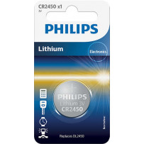 Philips CR2450 Lithium batteri 3V 1stk