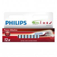 Philips LR03/AAA 12stk PowerAlkaline batterier 1,5V