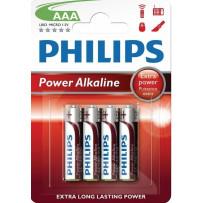 Philips LR03/AAA 4stk PowerAlkaline batterier 1,5V