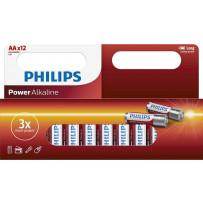 Philips LR06/AA 12stk PowerAlkaline batterier 1,5V