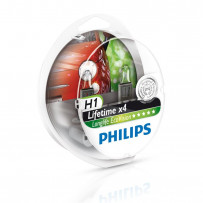 Philips H1 Longlife Ecovision 55W 2stk 4 x levetid