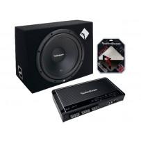 "Rockford Fosgate SSK600 mk2 kit 4kanals 12""+kabler"