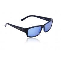SwissEye Street solbriller blanksort blåt glas