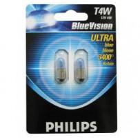 Philips Bluevision T4W 2stk 12V 4W