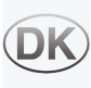 Klistermærke DK sølv relief oval 80x137mm